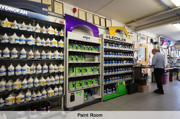 Autosupplies Paint Mixing Room